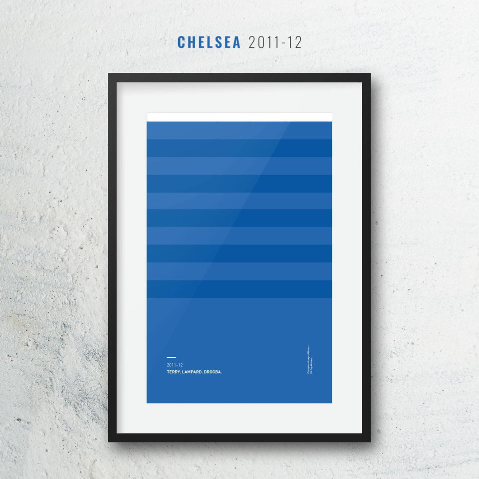 Chelsea 2011-12 Iconic Football Kit Pattern Print