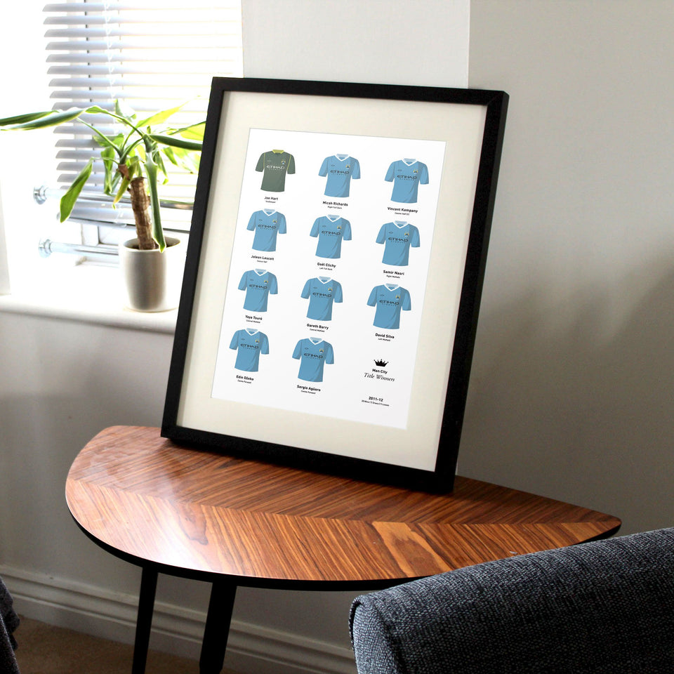City 2012 Title Winners Football Team Print