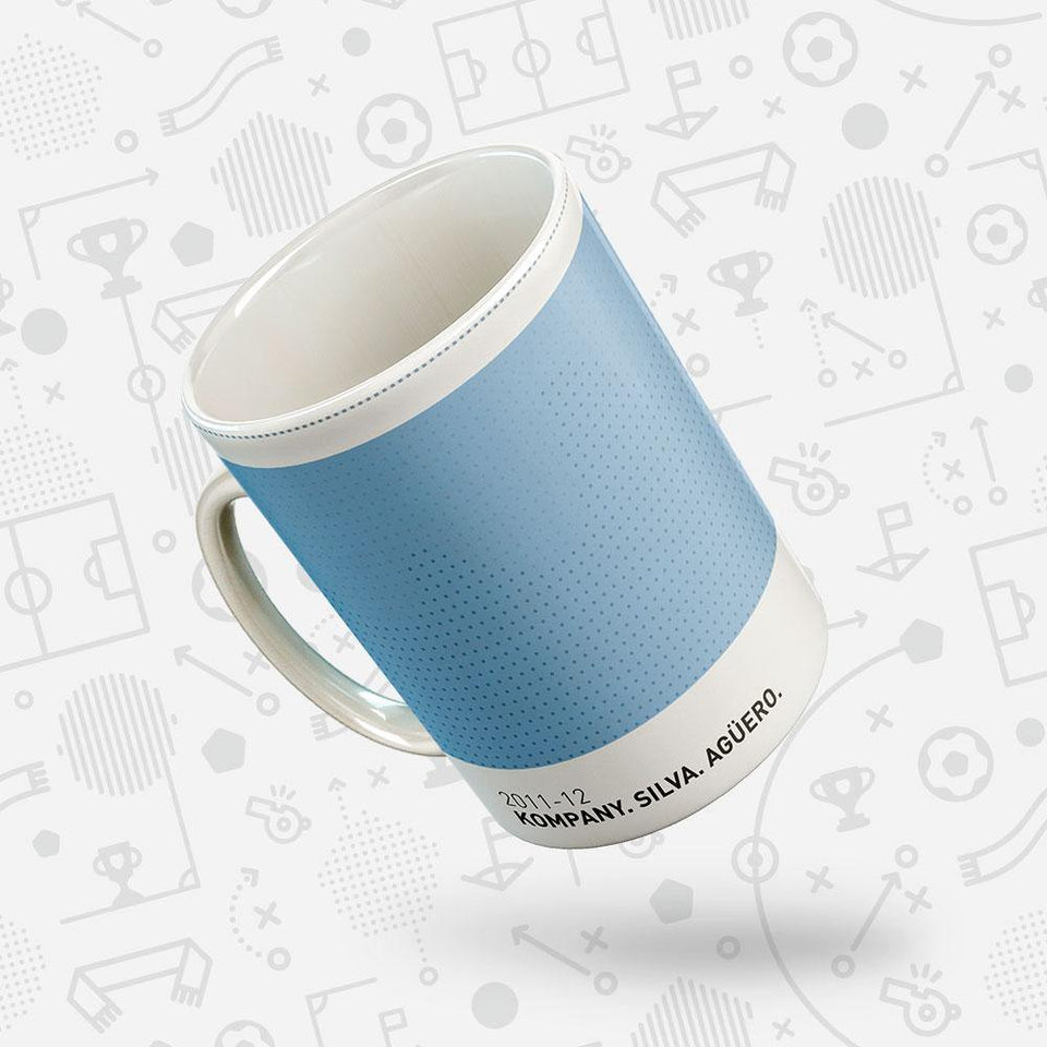 City 2011-12 Iconic Football Kit Pattern Mug