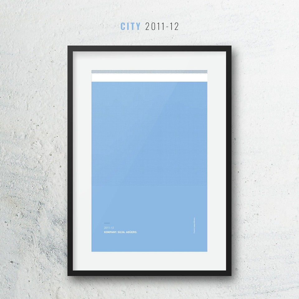 City 2011-12 Iconic Football Kit Pattern Print
