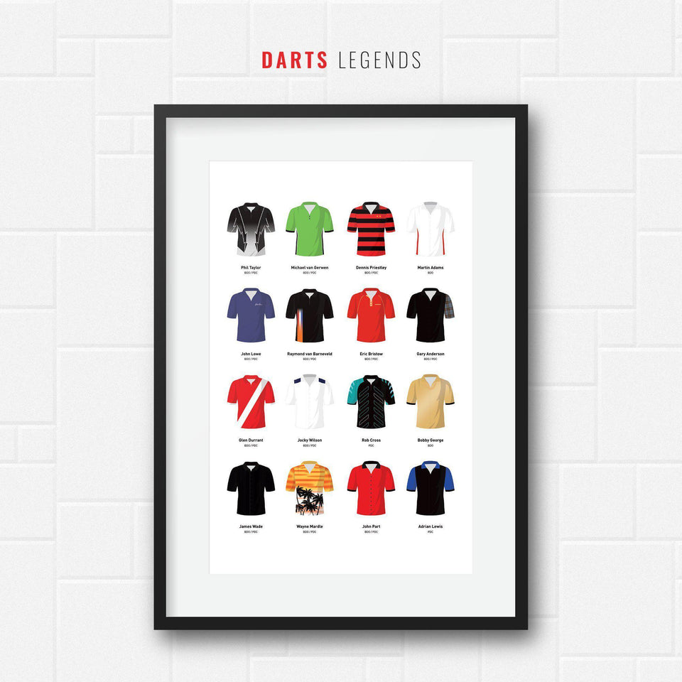 Darts Legends Classic Shirts Print