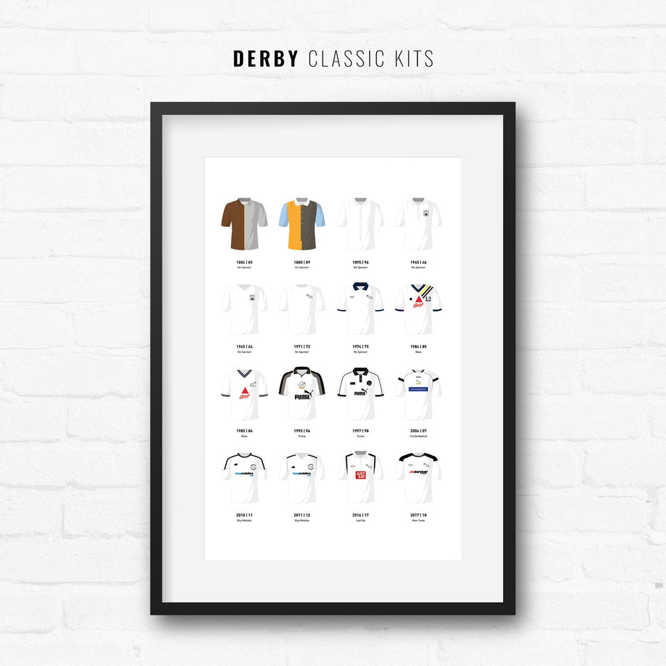 Derby Classic Kits Football Team Print-Good Team On Paper