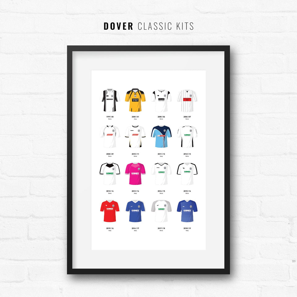 Dover Classic Kits Football Team Print - Good Team On Paper