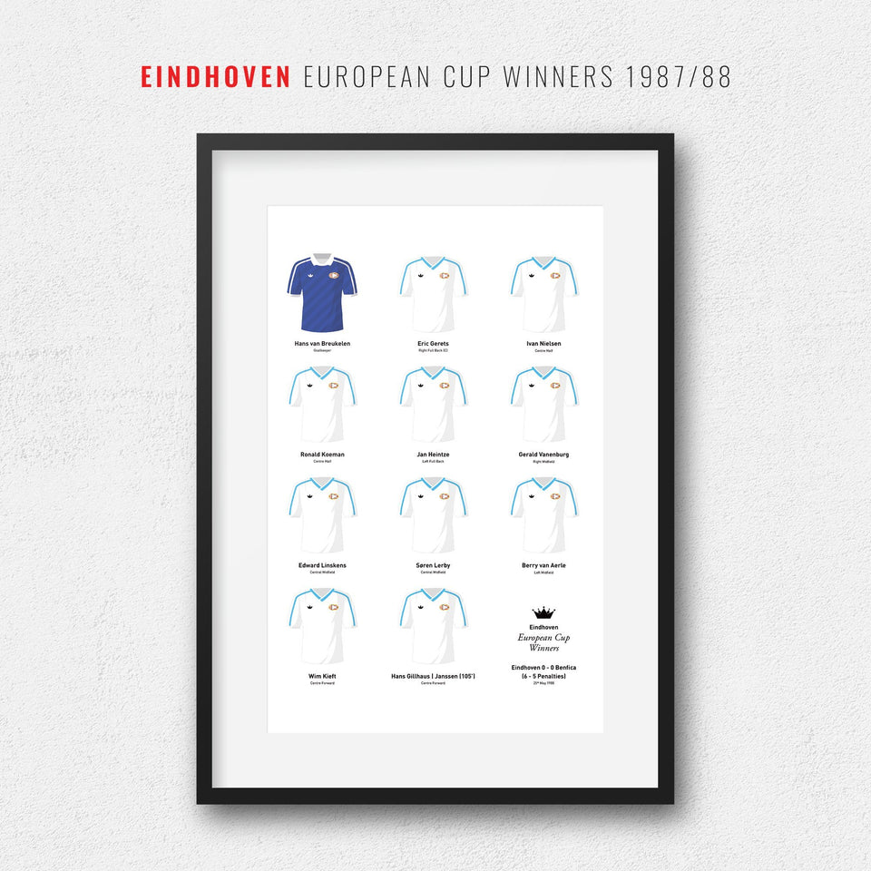 Eindhoven 1988 European Cup Winners Football Team Print-Good Team On Paper