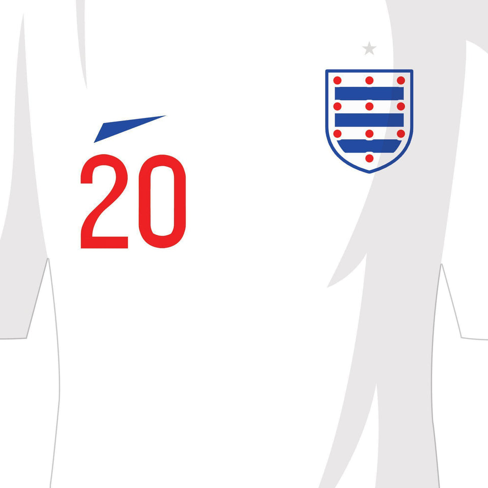 England 2018 Russia World Cup Football Team Print