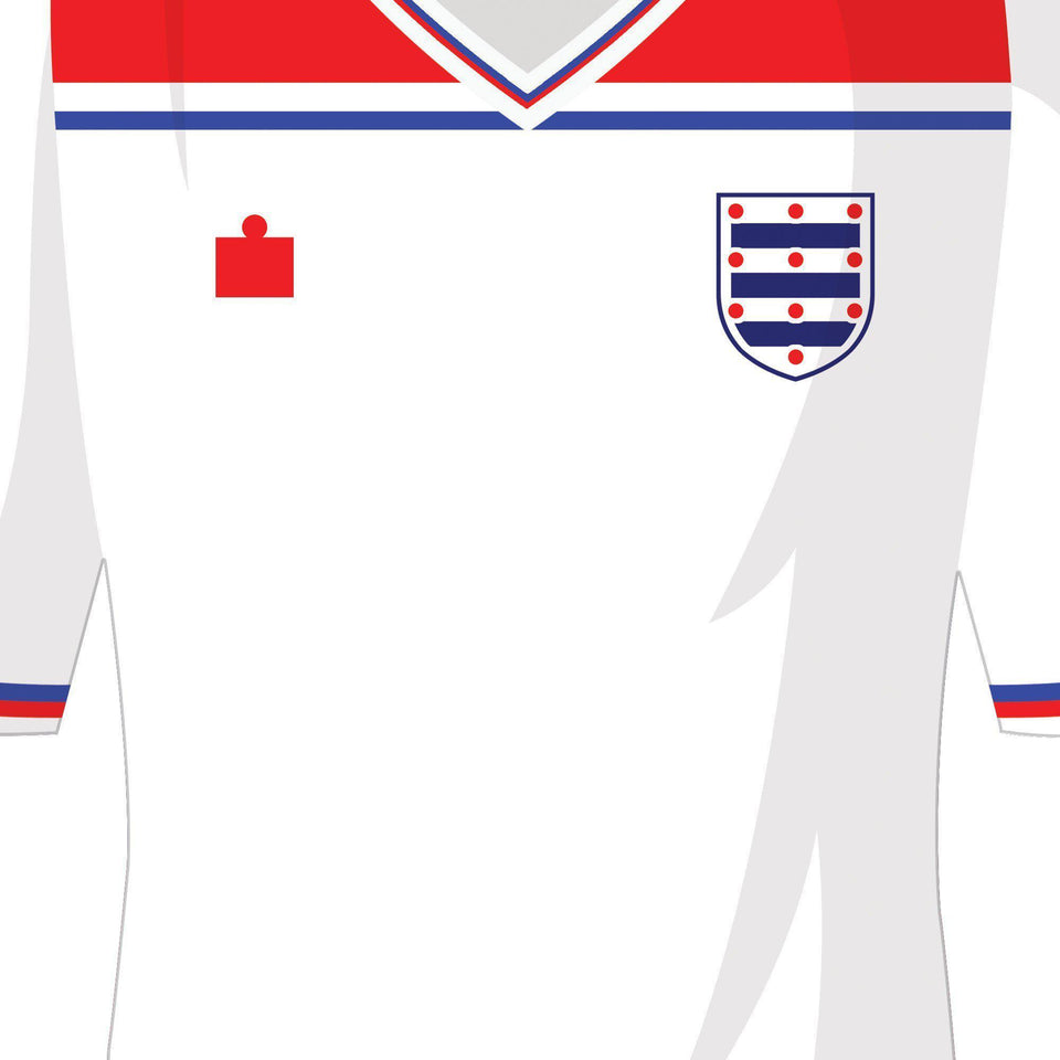 England Classic Kits Football Team Print-Good Team On Paper