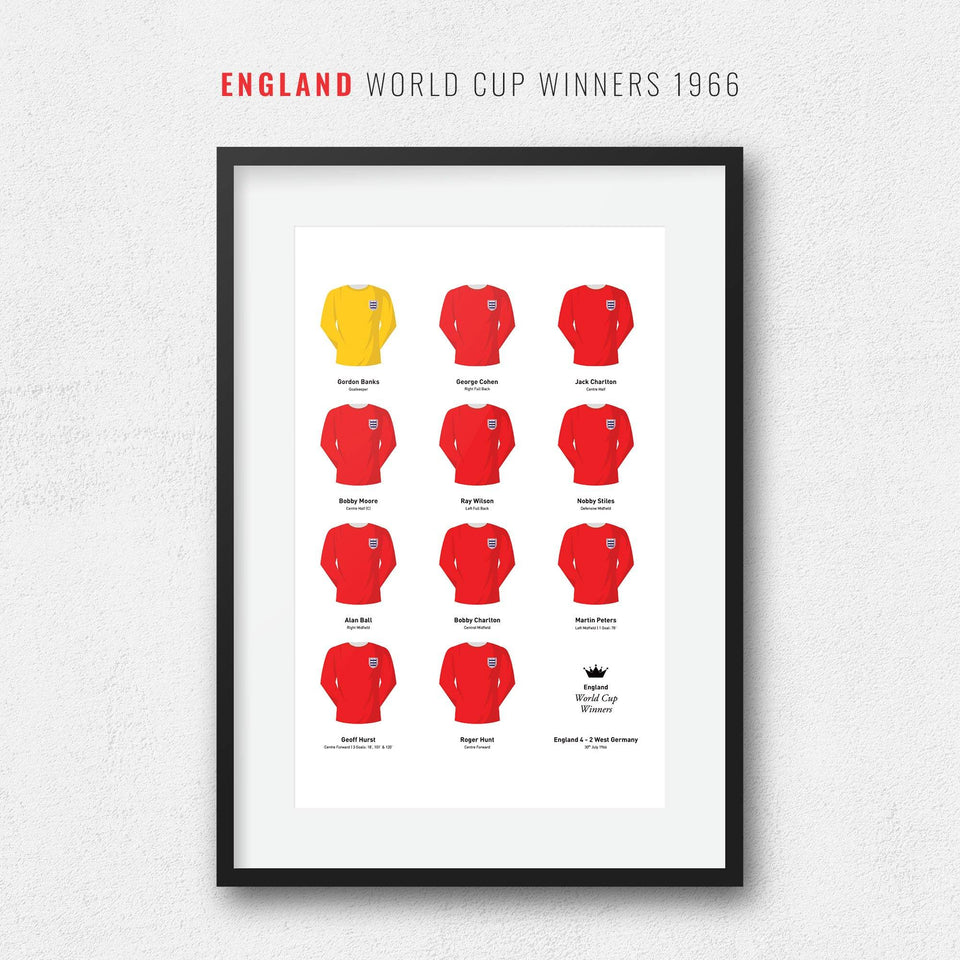 England 1966 World Cup Winners Football Team Print