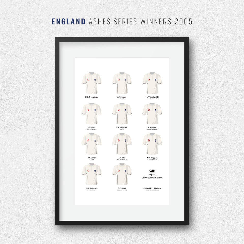 England Cricket 2005 Ashes Series Winners Team Print