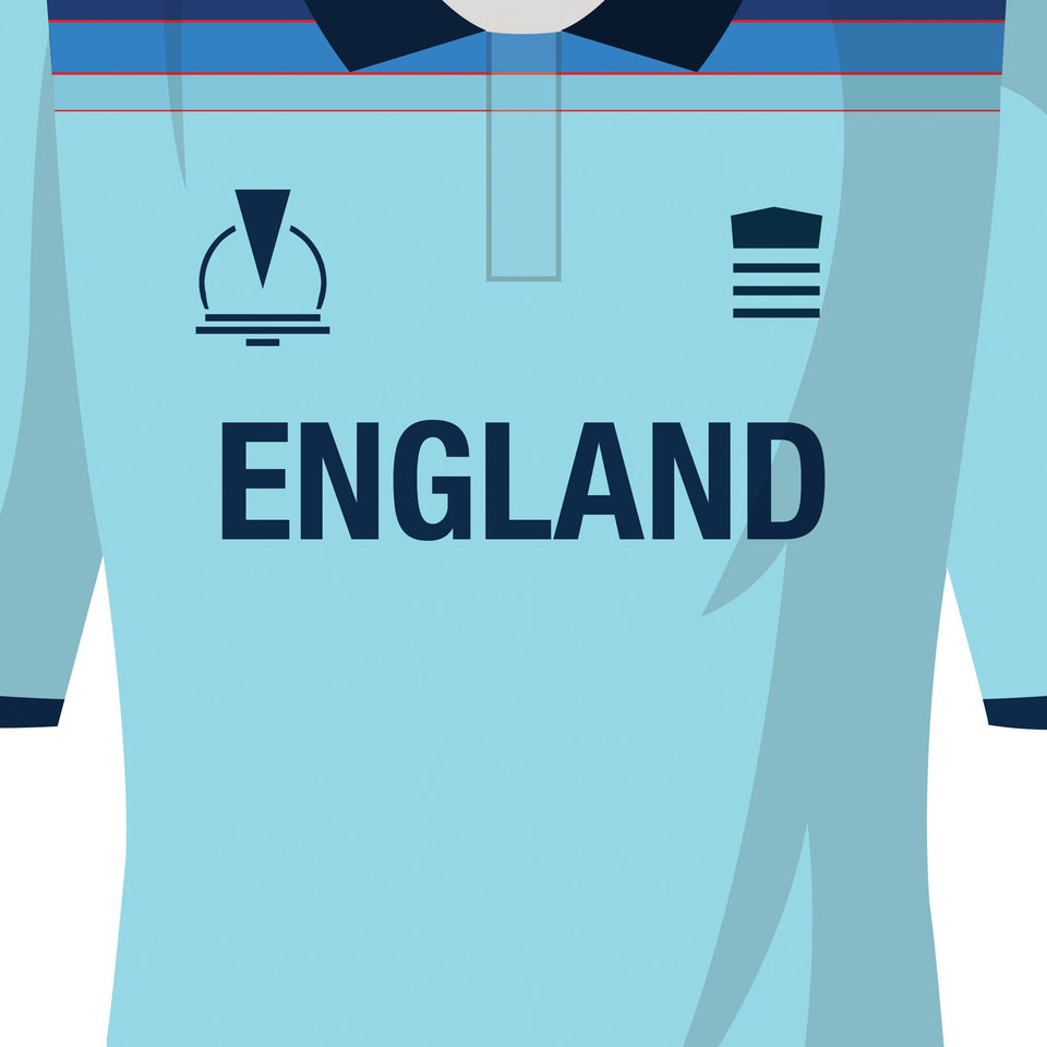 England Classic Kits Cricket Team Print - Good Team On Paper