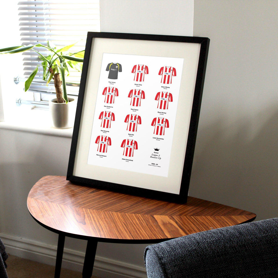 Exeter 2009 League 2 Promotion Football Team Print
