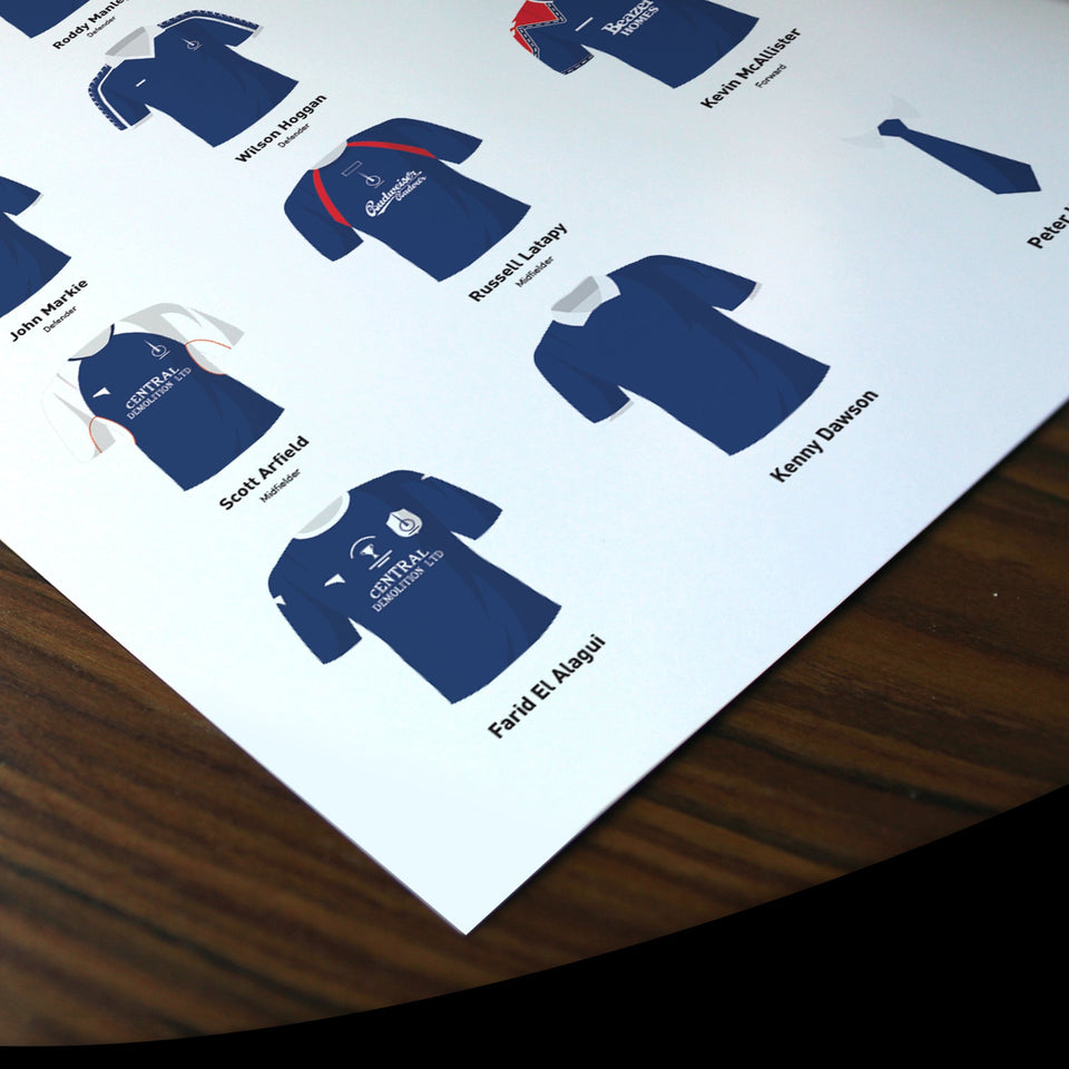 PERSONALISED Falkirk Football Team Print - Good Team On Paper