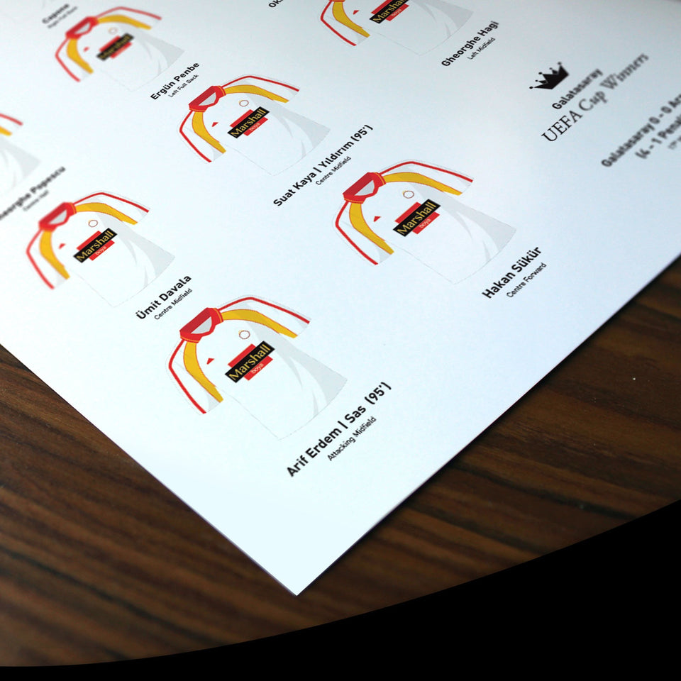 Galatasaray 2000 Uefa Cup Winners Football Team Print - Good Team On Paper