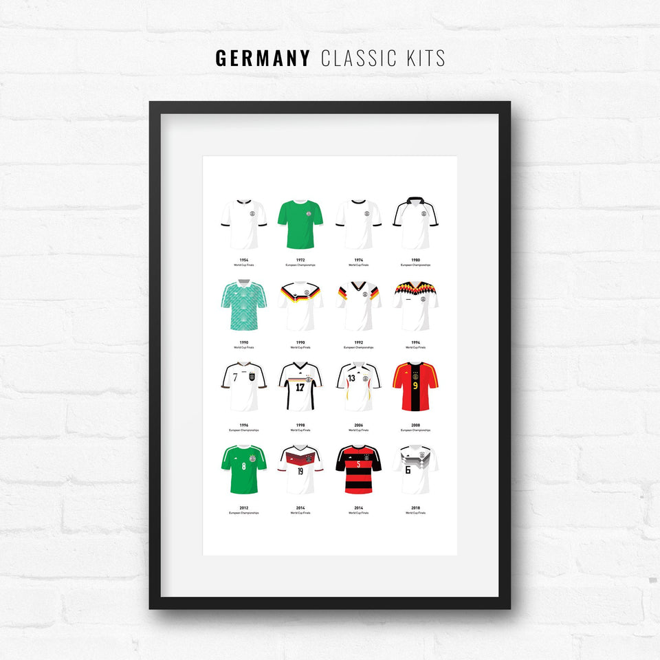 Germany Classic Kits Football Team Print - Good Team On Paper