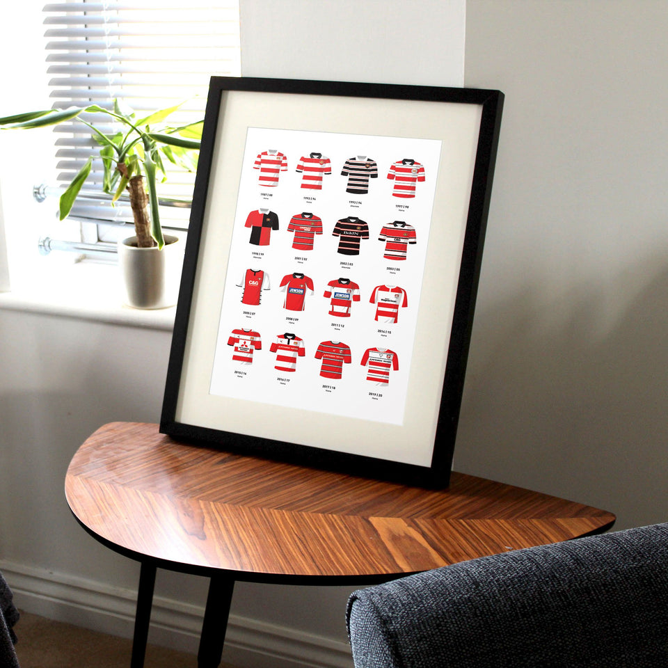 Gloucester Classic Kits Rugby Union Team Print - Good Team On Paper