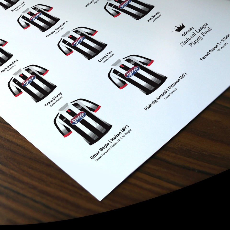 Grimsby 2016 Conference Playoff Winners Football Team Print