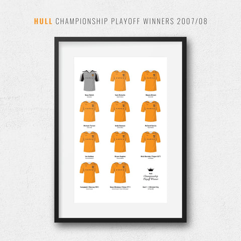 Hull 2008 Championship Playoff Final Football Team Print-Good Team On Paper