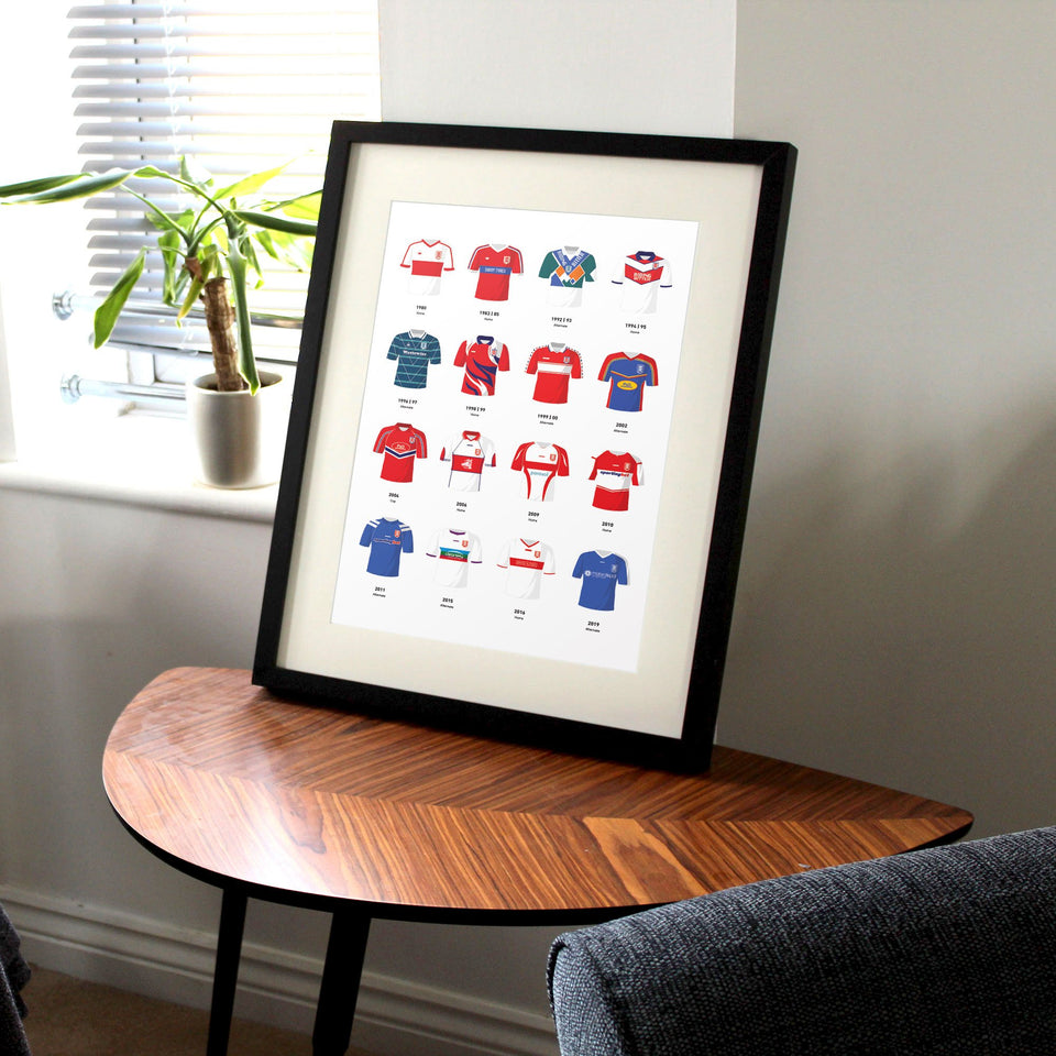 Hull KR Classic Kits Rugby League Team Print - Good Team On Paper