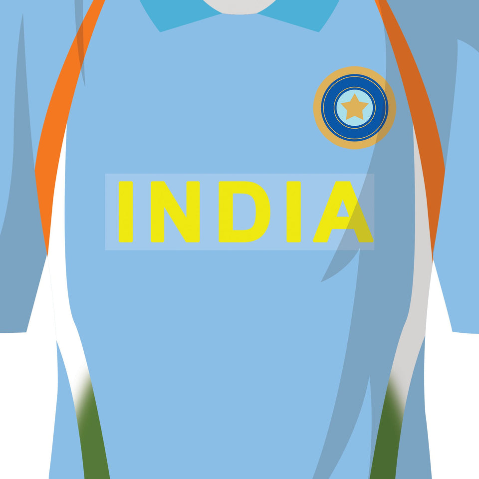 India Classic Kits Cricket Team Print - Good Team On Paper