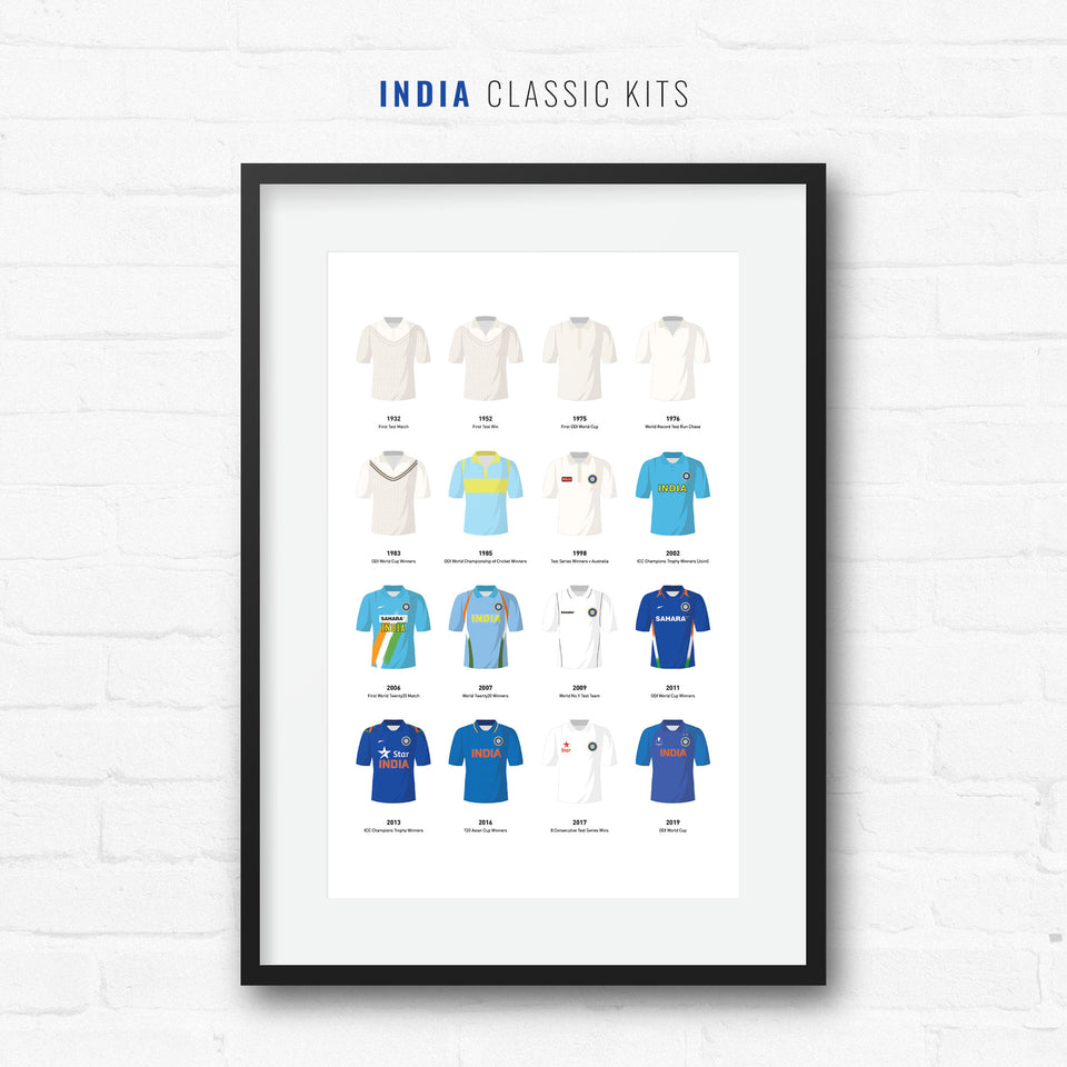 India Classic Kits Cricket Team Print