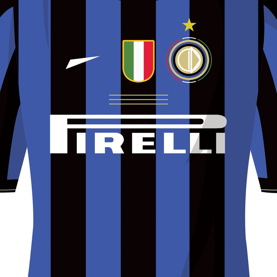 Inter 2010 Champions League Winners Football Team Print-Good Team On Paper