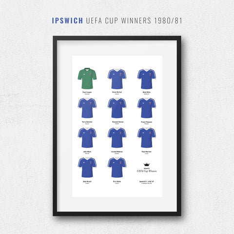 Ipswich 1981 Uefa Cup Winners Football Team Print-Good Team On Paper