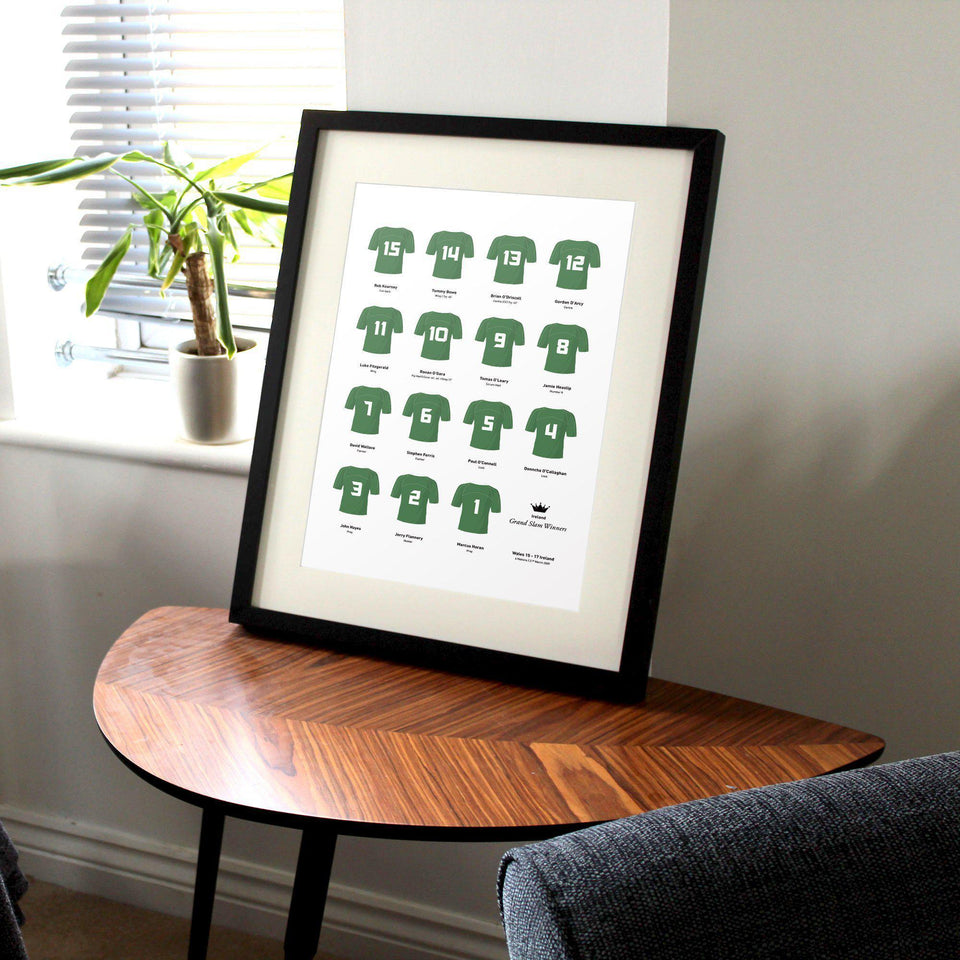 Ireland Rugby Union 2009 Grand Slam Winners Team Print