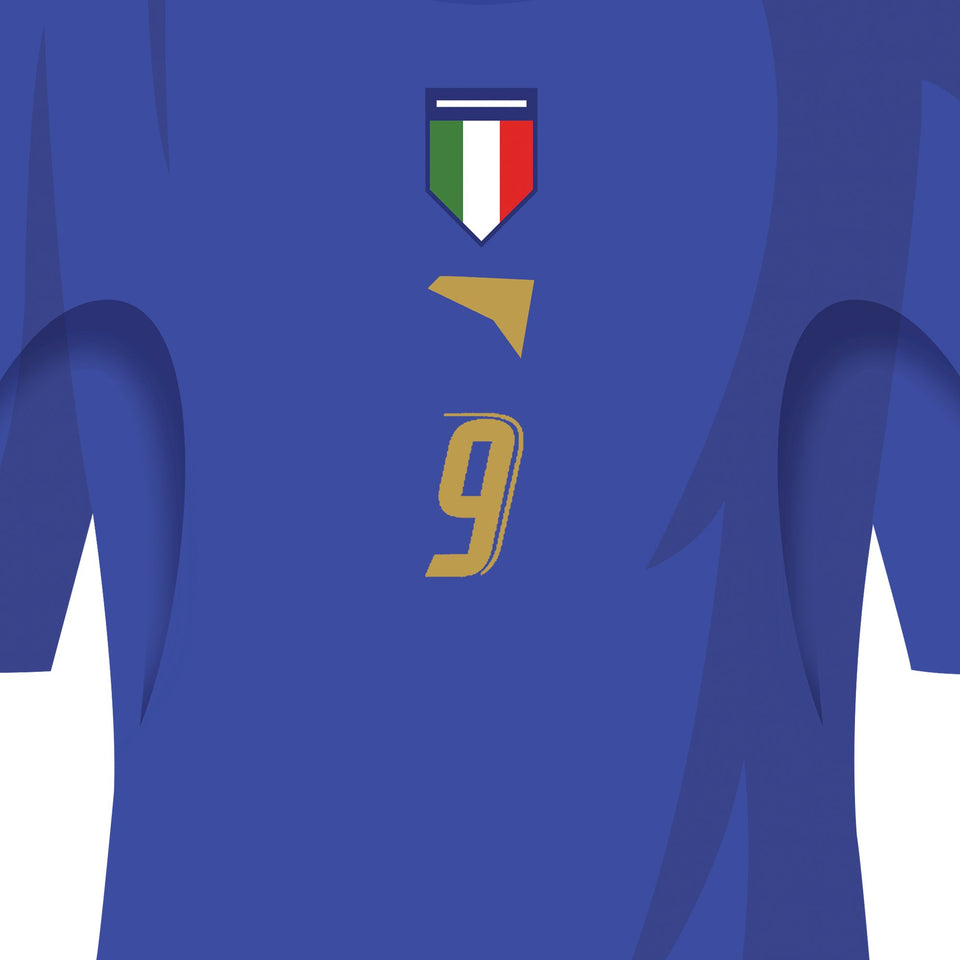 Italy 2006 World Cup Winners Football Team Print - Good Team On Paper