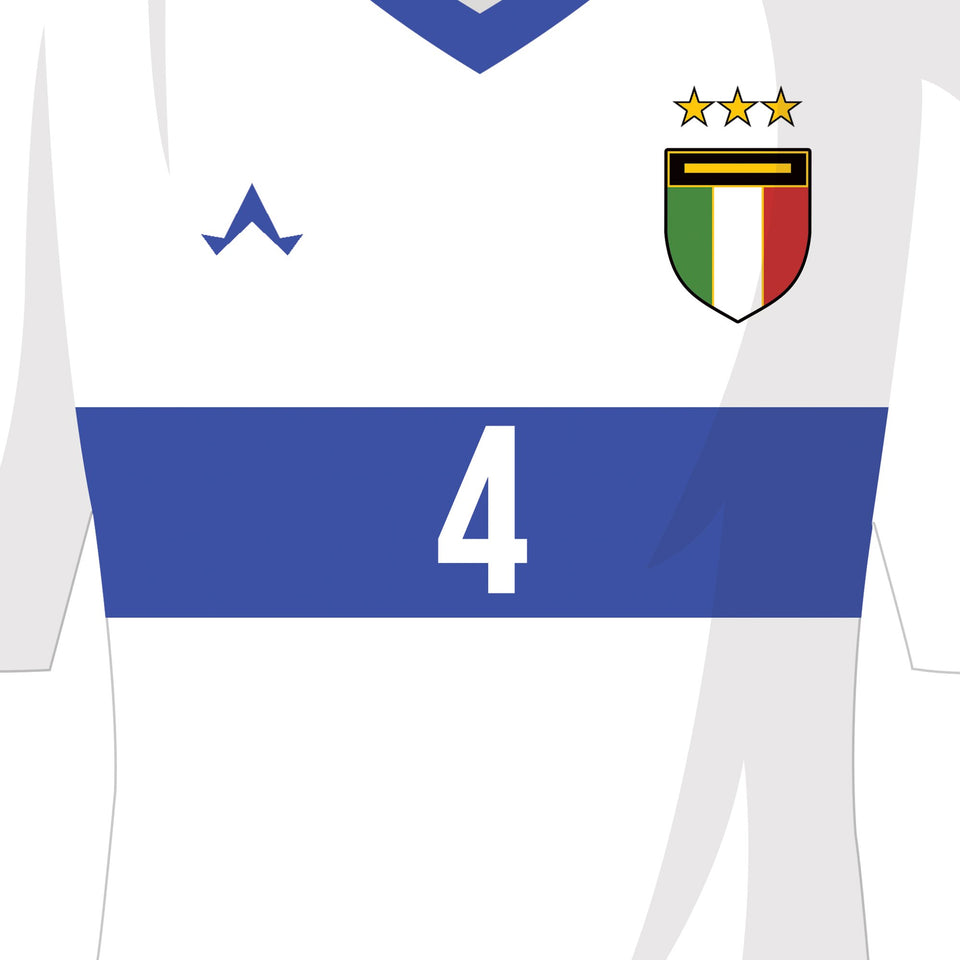 Italy Classic Kits Football Team Print - Good Team On Paper