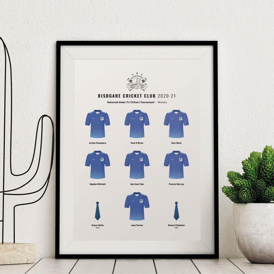 CREATE Your Custom Junior Sports Team Print