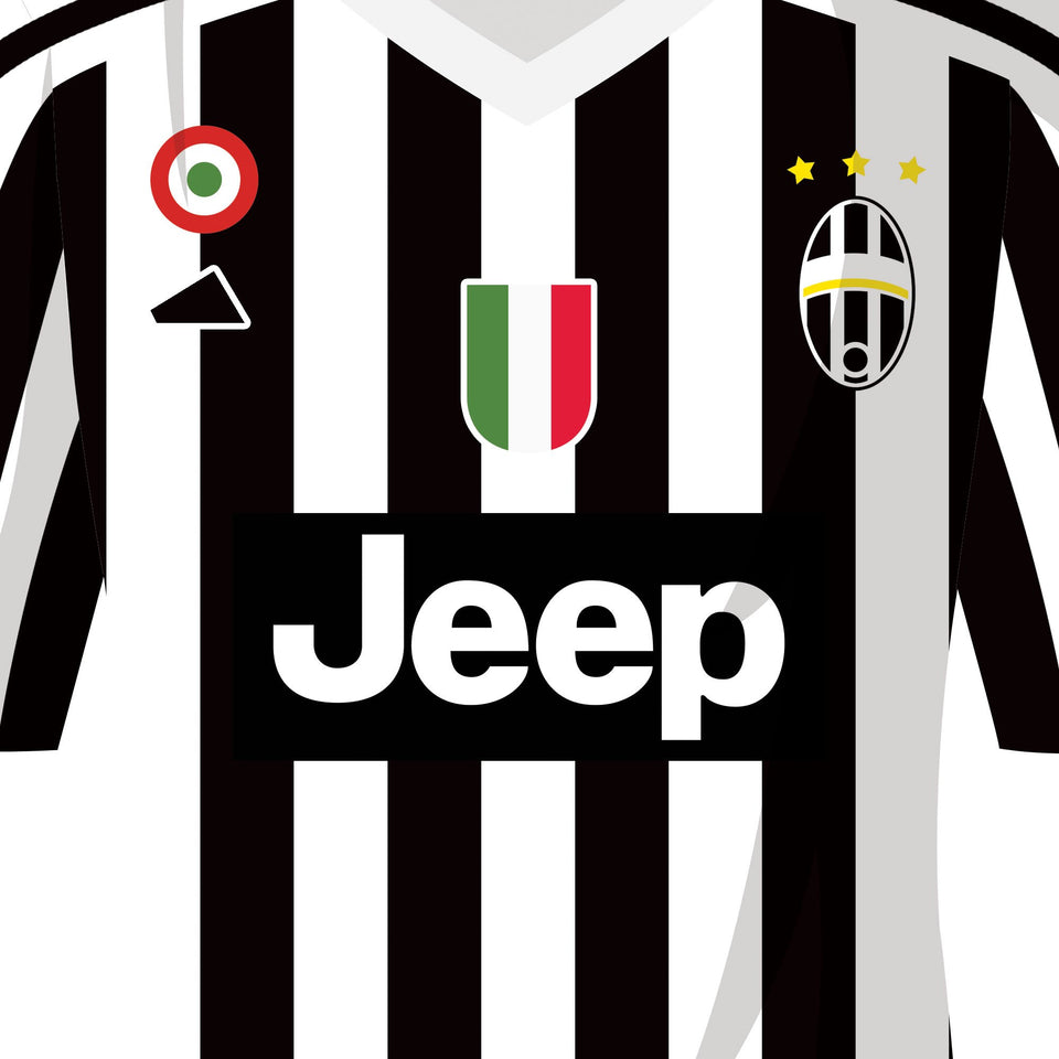 Juventus 2016 Title Winners Football Team Print