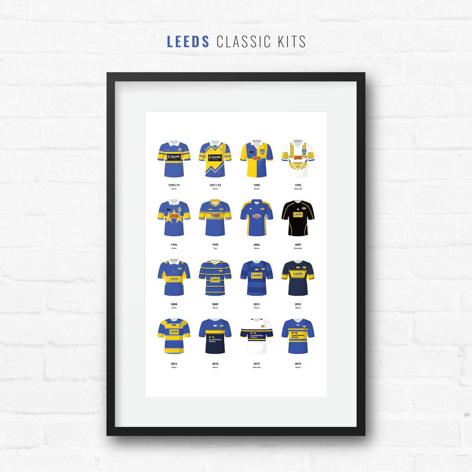 Leeds Classic Kits Rugby League Team Print
