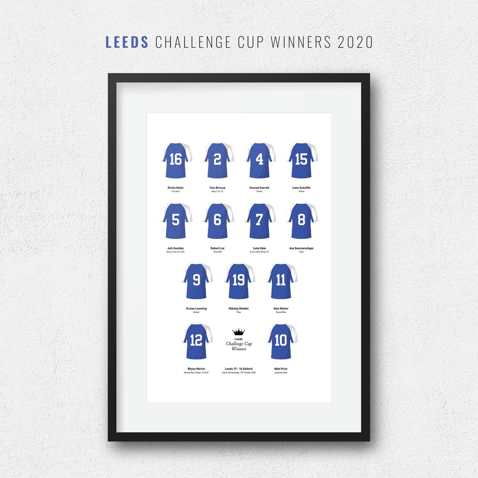 Leeds Rugby League 2020 Challenge Cup Team Print