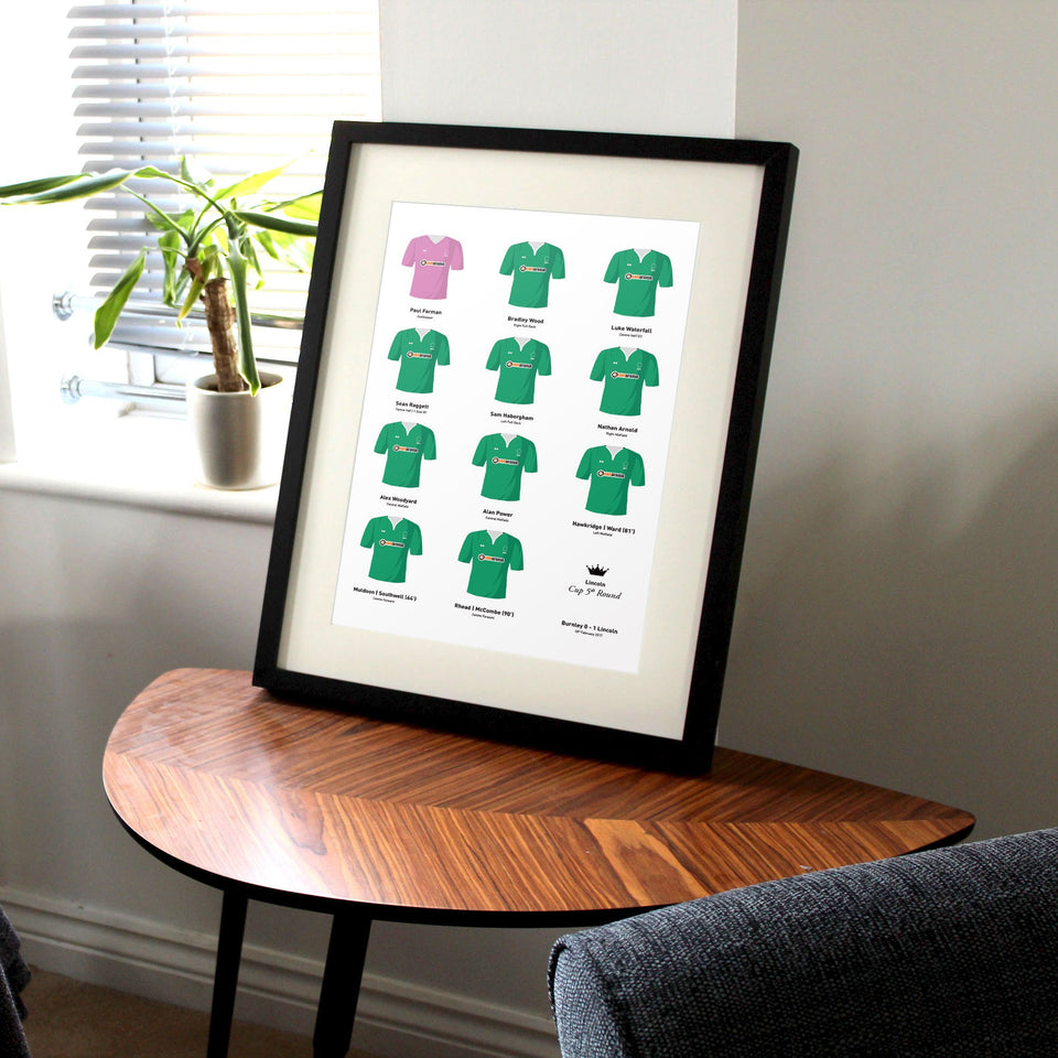 Lincoln 2017 Cup 5th Round Football Team Print - Good Team On Paper