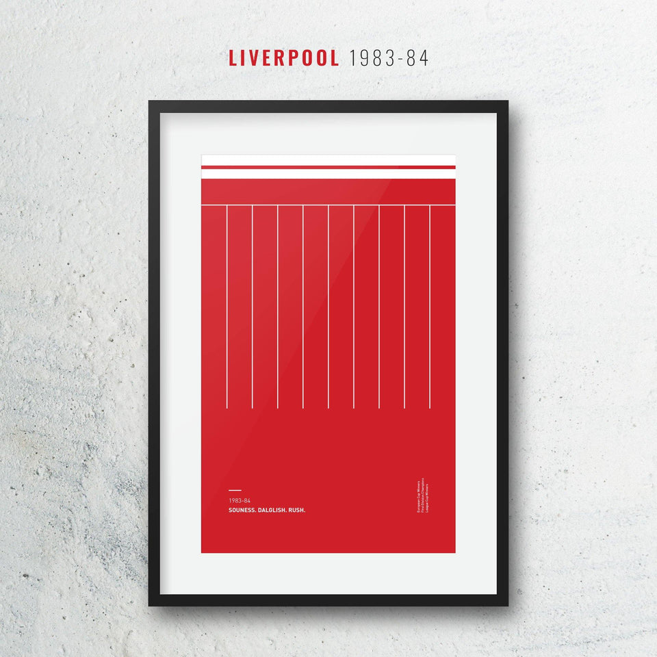 Liverpool 1983-84 Iconic Football Kit Pattern Print