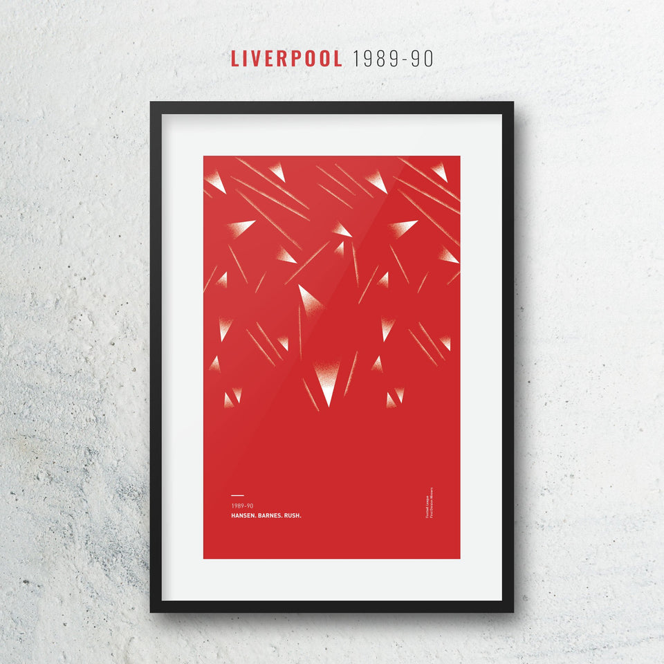 Liverpool 1989 Iconic Football Kit Pattern Print - Good Team On Paper
