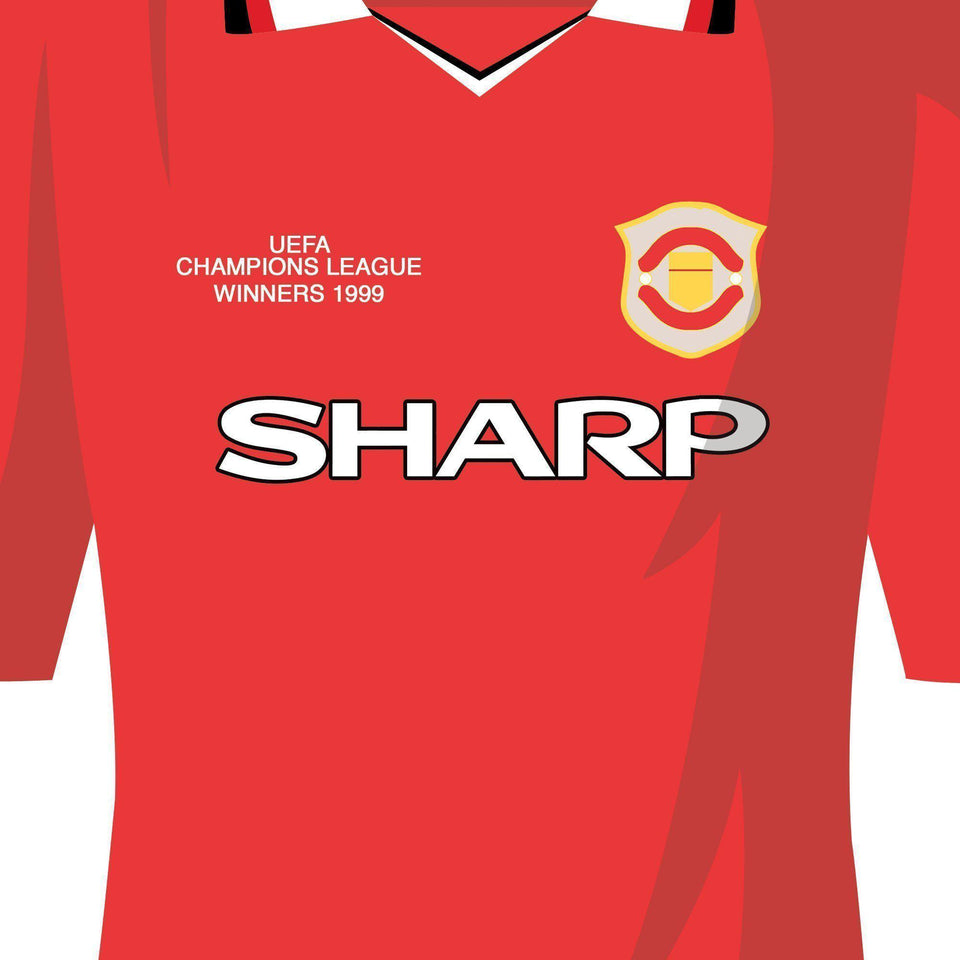 Manchester Utd Classic Kits Football Team Print - Good Team On Paper