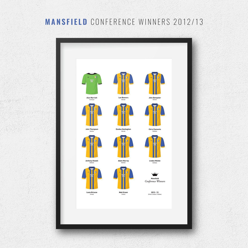 Mansfield 2013 Conference Winners Football Team Print-Good Team On Paper