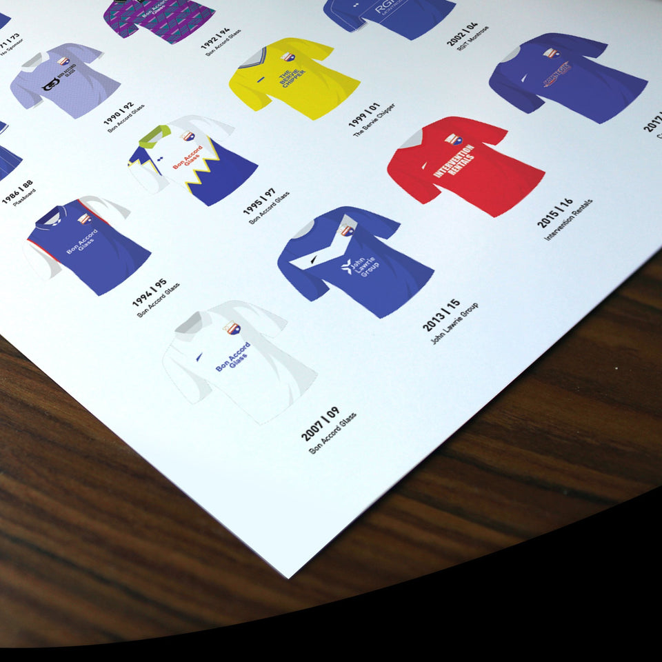 Montrose Classic Kits Football Team Print - Good Team On Paper
