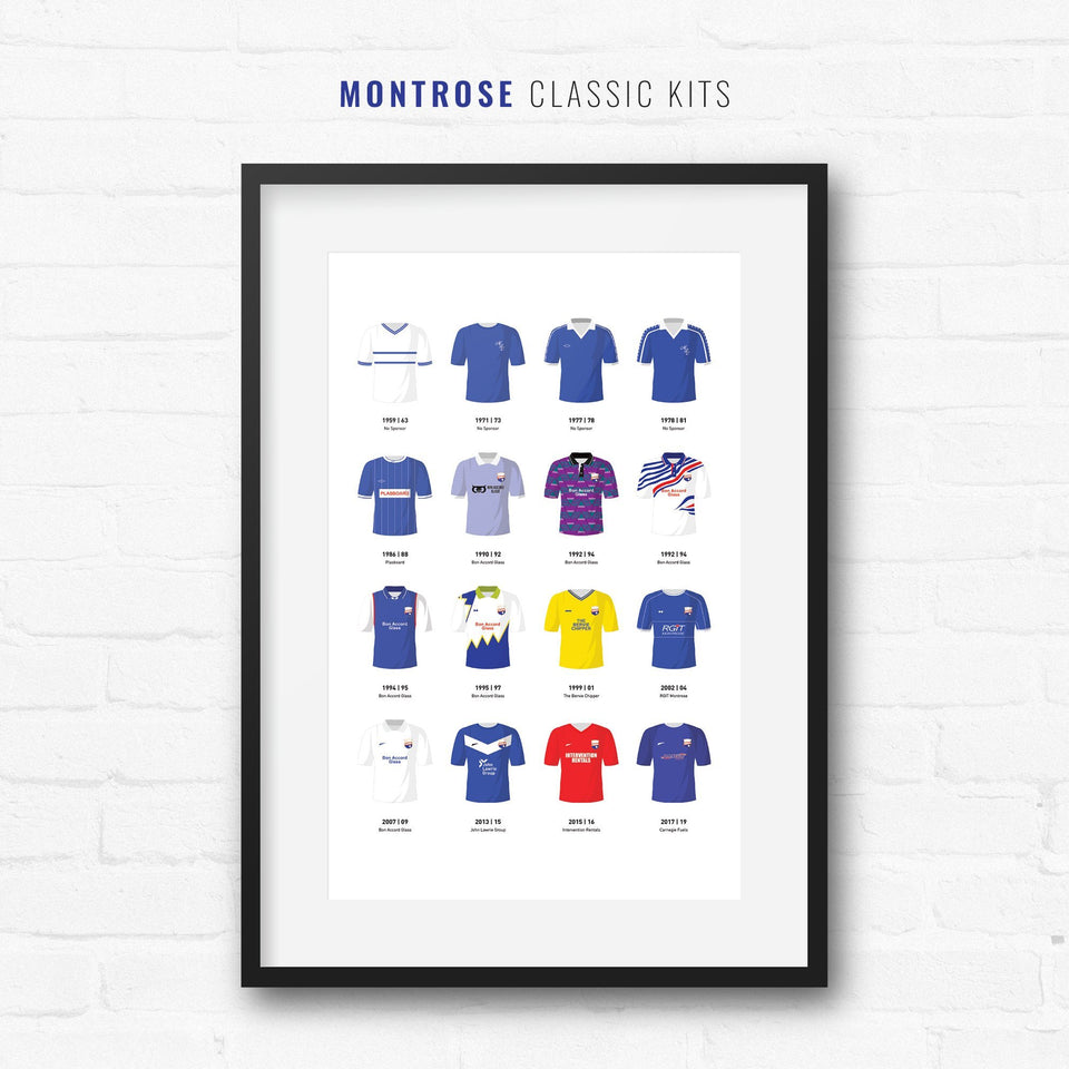 Montrose Classic Kits Football Team Print