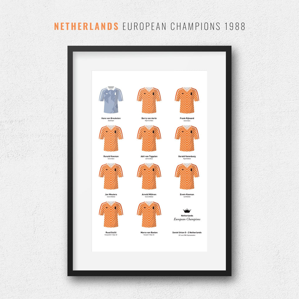 Netherlands 1988 European Championship Winners Football Team Print