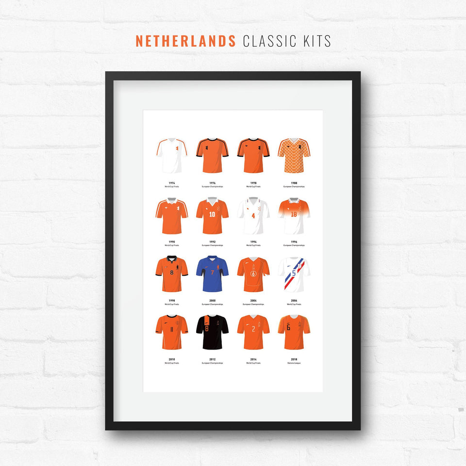 Netherlands Classic Kits Football Team Print
