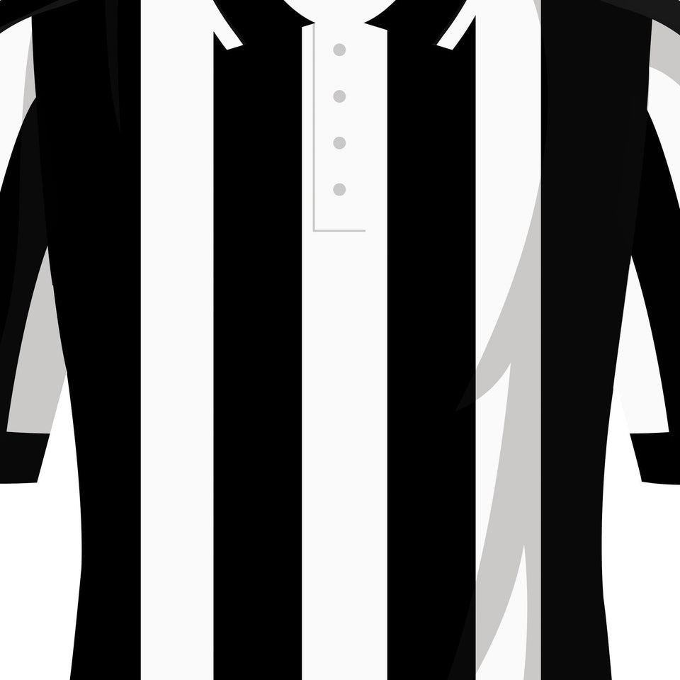 Newcastle Classic Kits Football Team Print-Good Team On Paper