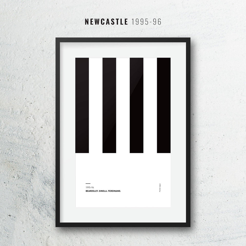 Newcastle 1995-96 Home Iconic Football Kit Pattern Print