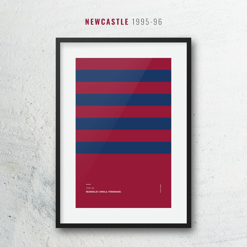 Newcastle 1995 Iconic Football Kit Pattern Print
