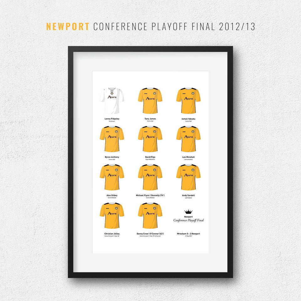 Newport 2013 Conference Playoff Winners Football Team Print