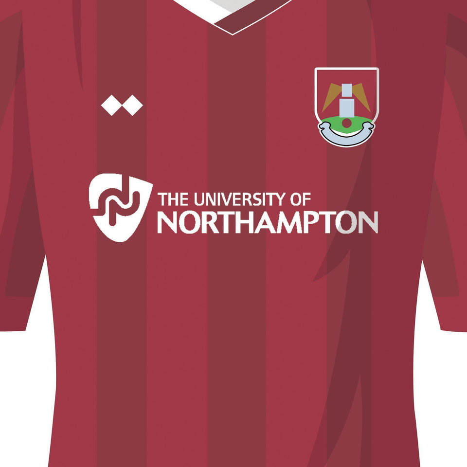 Northampton 2016 League 2 Champions Football Team Print-Good Team On Paper