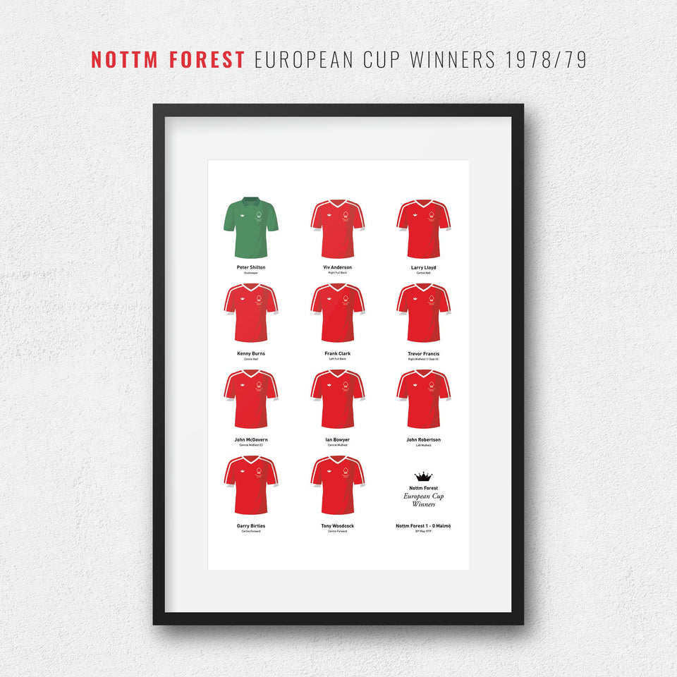 Nottm Forest 1979 European Cup Winners Football Team Print