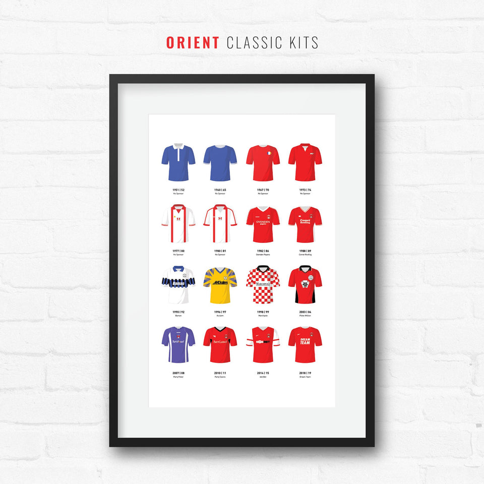 Orient Classic Kits Football Team Print - Good Team On Paper