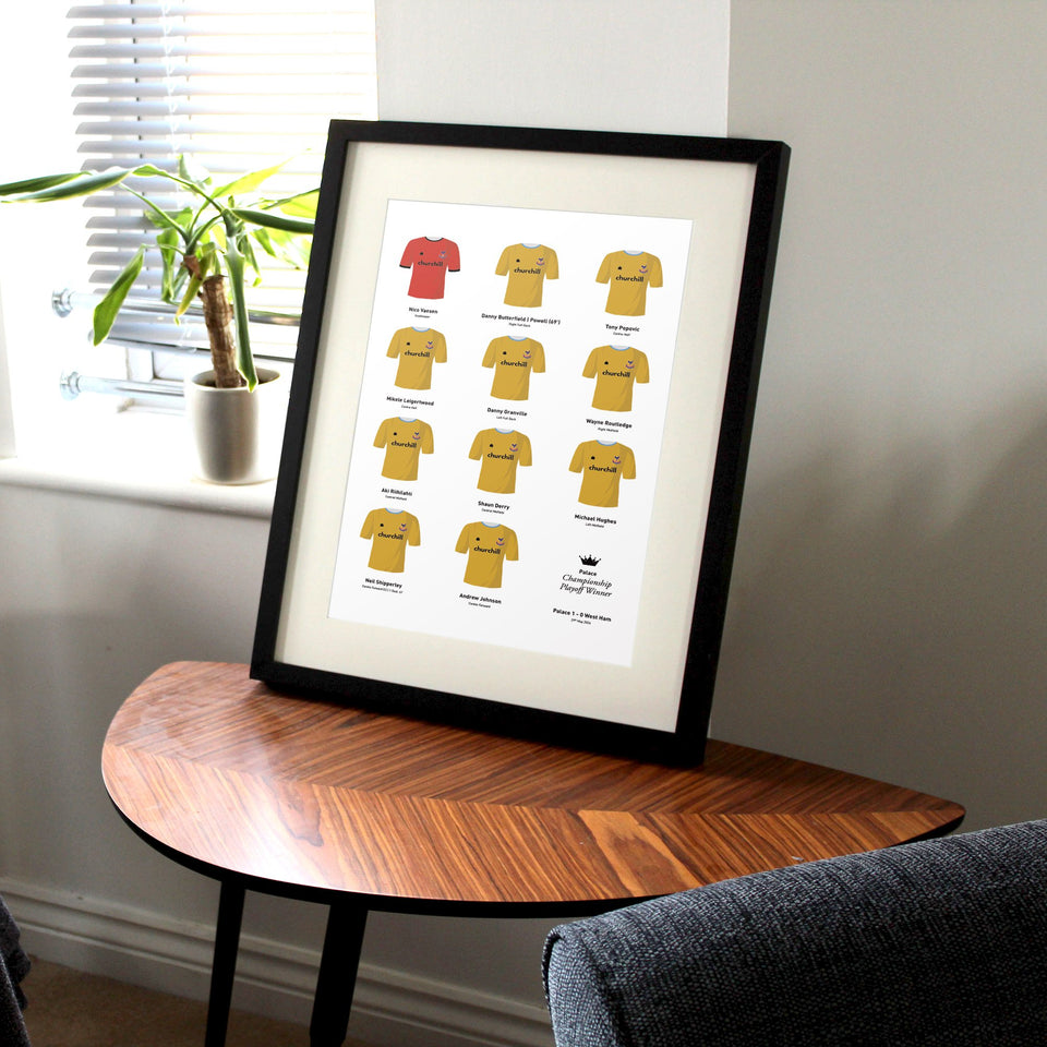 Palace 2004 Championship Playoff Final Winners Football Team Print-Good Team On Paper