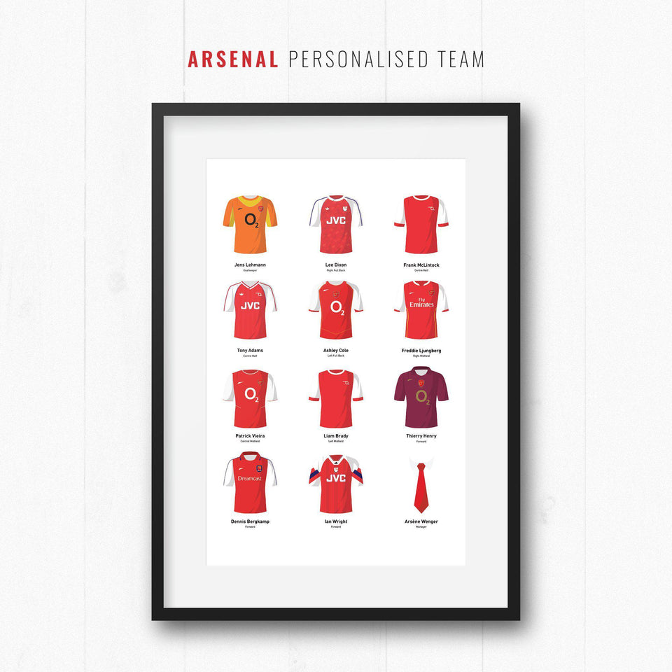 PERSONALISED Arsenal Football Team Print-Good Team On Paper